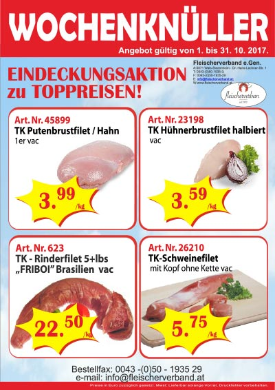 WK Eindeckungsaktion Filets